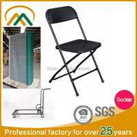 Wholesale plastic cover folding metal chair KP-C1028