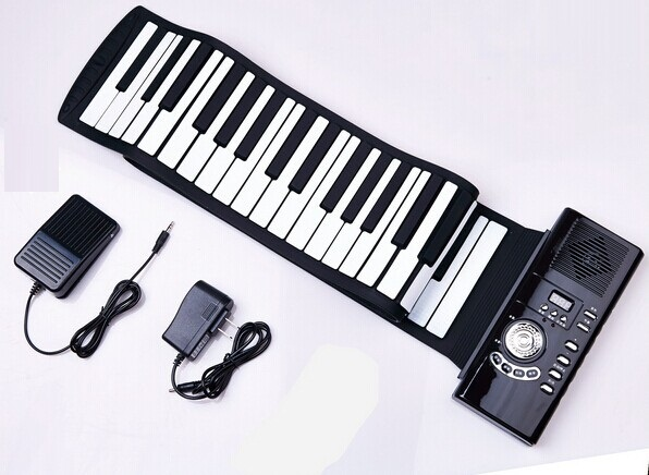lightweight musical instrument usb midi controller soft roll up piano 88 keys foldable. Black Bedroom Furniture Sets. Home Design Ideas