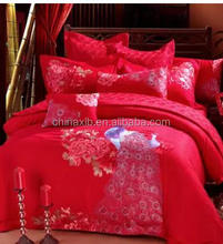 China newest home textile silk bedding set/home textile/bed linen