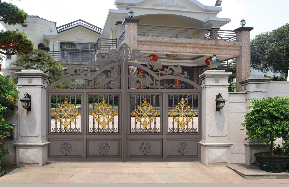 Cast aluminum gate design sliding metal gates steel - Sliding main gate design for home ...