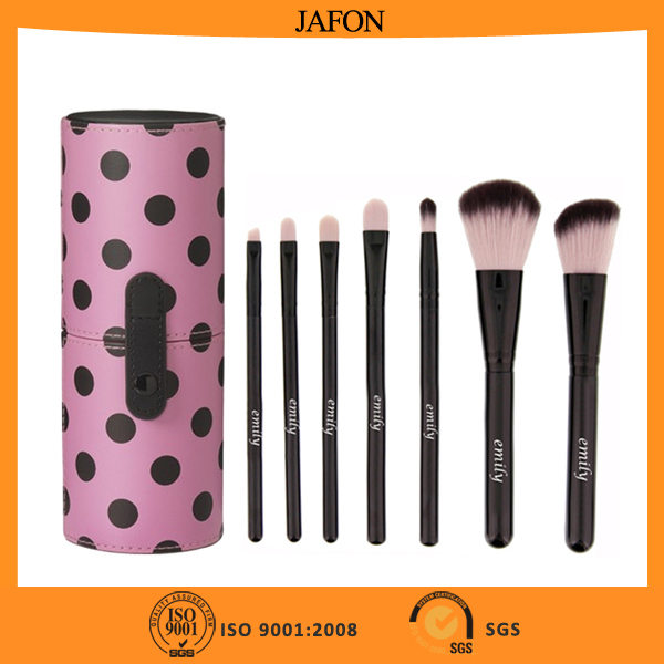 Wholesale fashional 7pcs EMILY top quality cosmetic face brush set