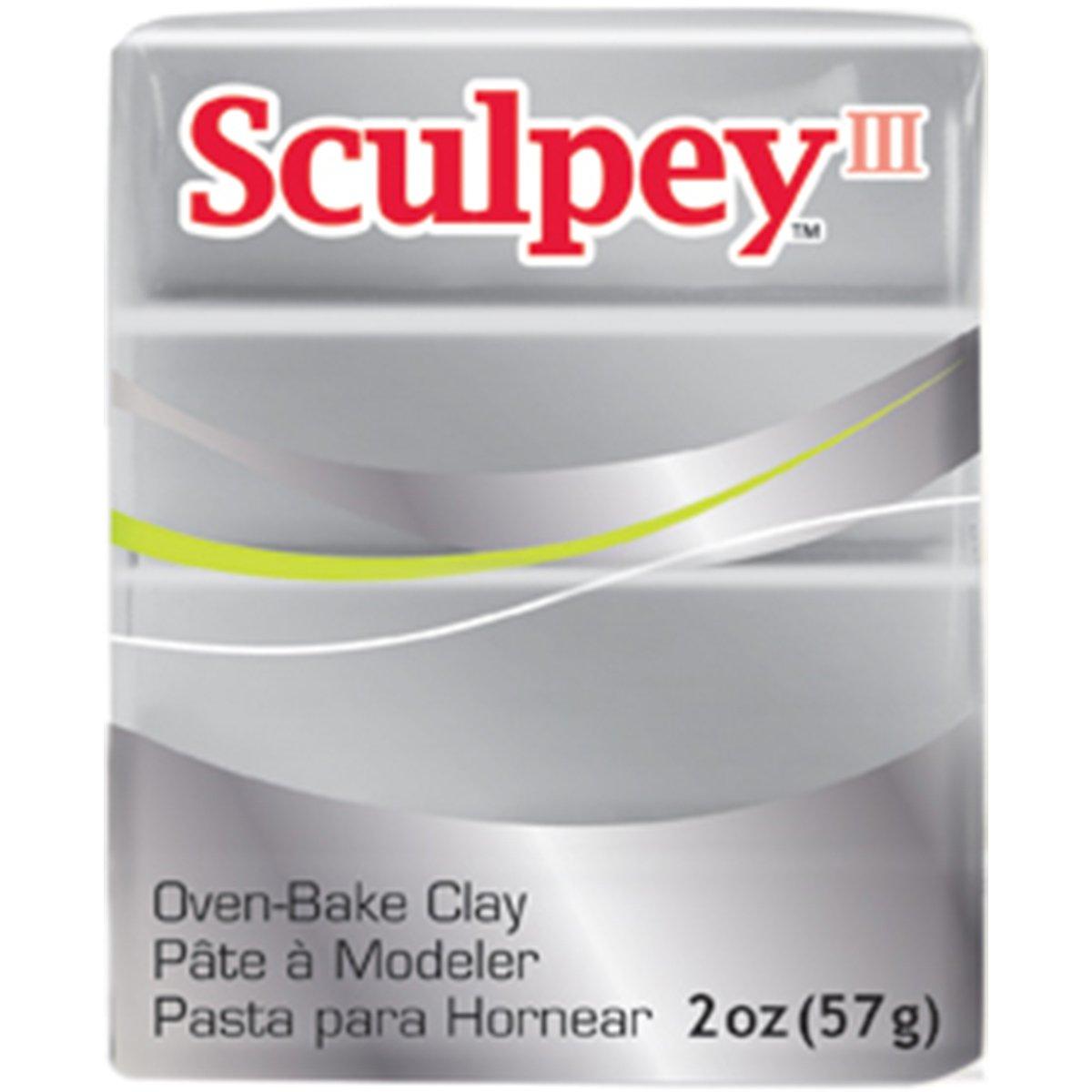 Polyform S302-1130 Sculpey-3 Polymer Clay, 2-Ounce, Silver