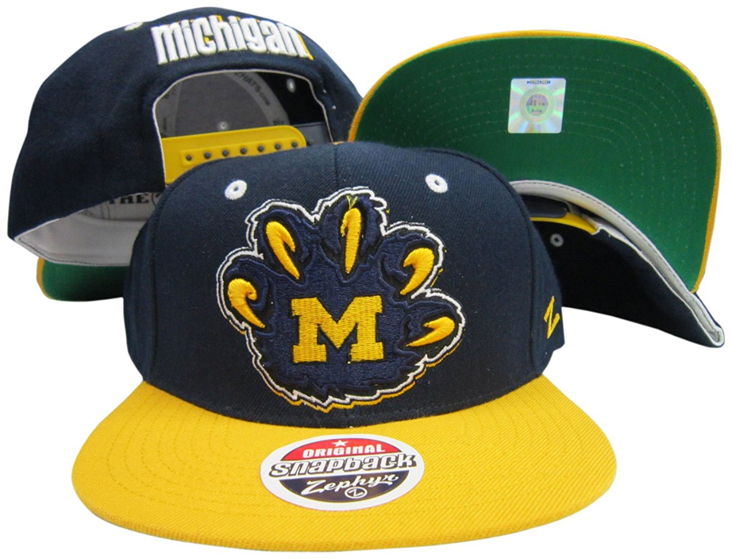 check out a8c1a 91141 Get Quotations · Michigan Wolverines Adjustable Snapback Hat   Cap