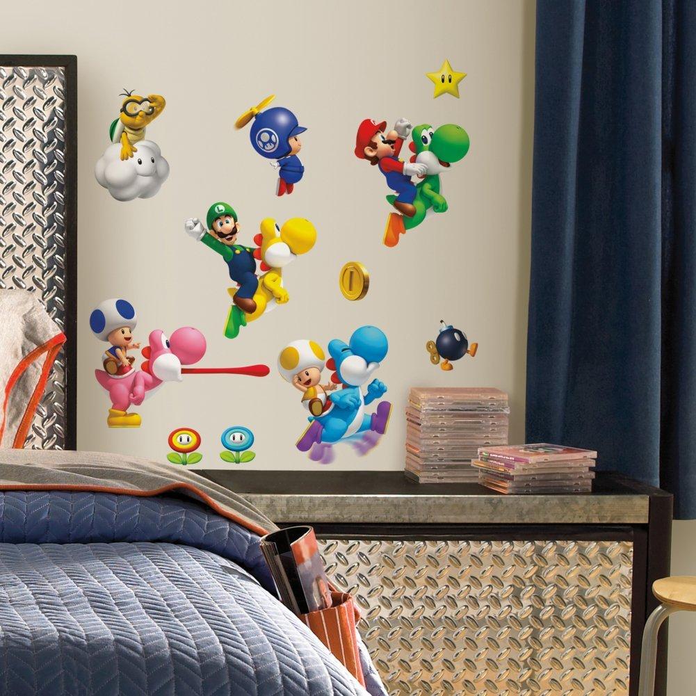 Nintendo - Super Mario Bros. Wii Peel & Stick Wall Decals 10 x 18in