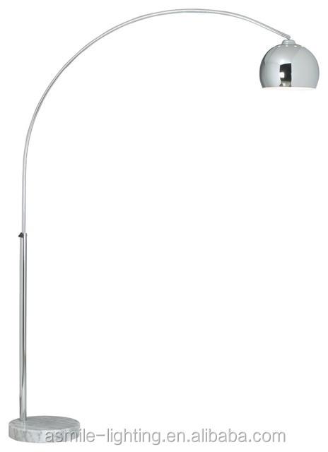 Elegant Chrome Modern Design Arc Floor Lamp Curved Floor Lamp With ...