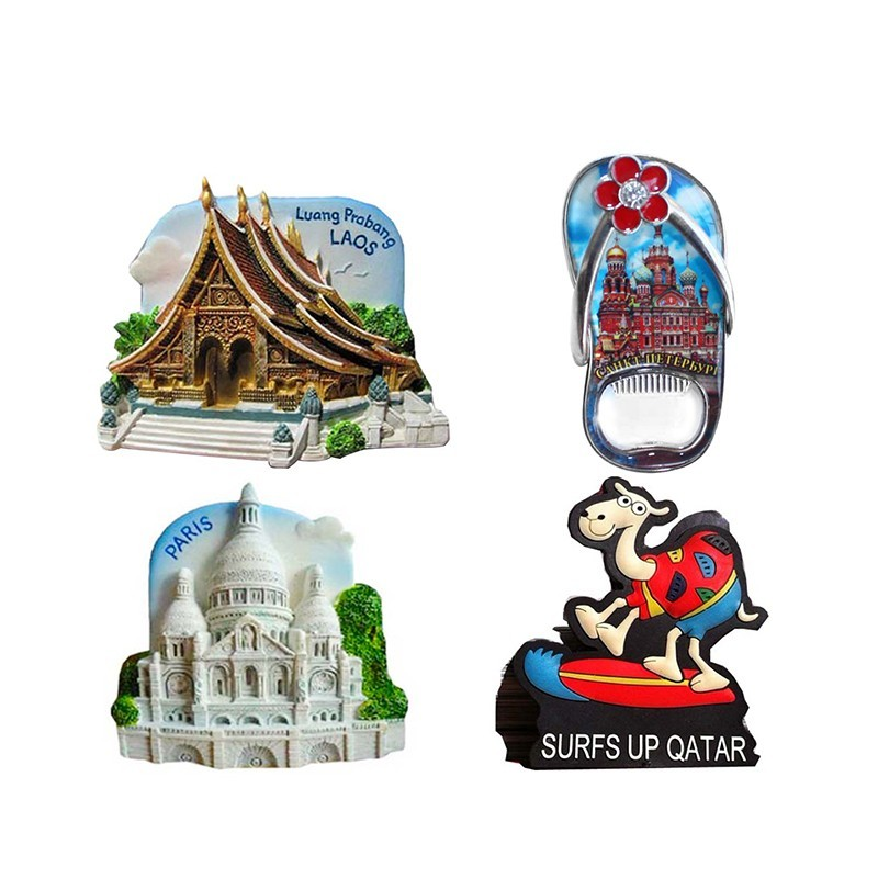 2019 cheap wholesale resin tourist custom 3d magnet polyresin fridge souvenir fridge magnet