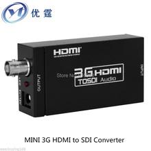 Free ship MINI HDMI TO 3G HD SDI Converter 1080P Hd SDI turn signal monitor Radio and television equipment wholesale