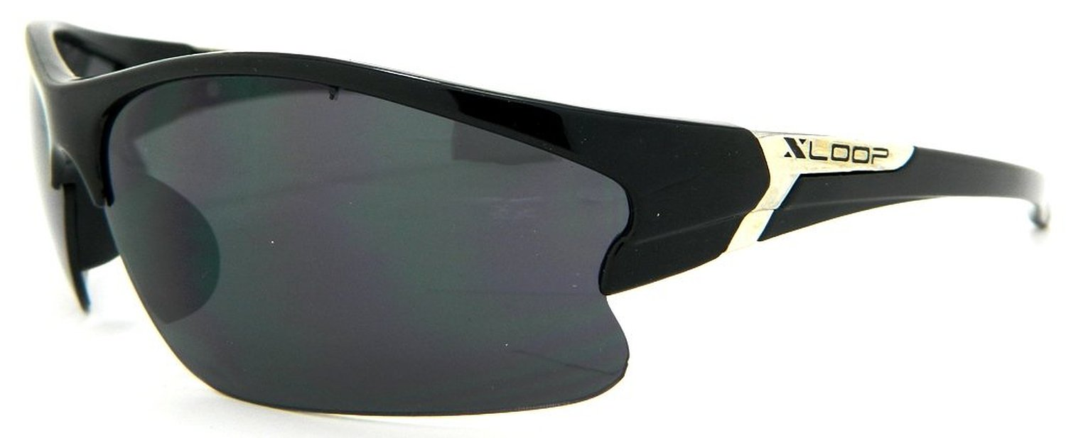 2b8af66925b Xloop Sunglasses Mens Black Wrap Cycling Motorcycle Biker Fishing Boat Golf  4076D