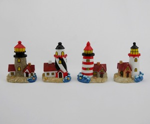 Assorted Lighthouse Figurines 5.5 Inch Resin Home Boat Decor