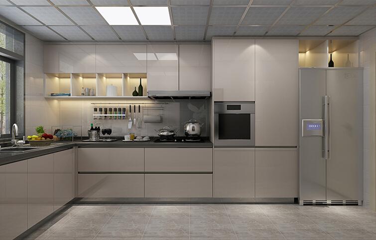 German design high gloss fiberglass kitchen cabinets for ...