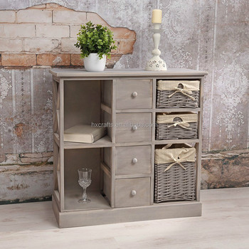 shabby chic grey new wicker basket sideboard bar cabinet buy home bar cabinet modern bar. Black Bedroom Furniture Sets. Home Design Ideas