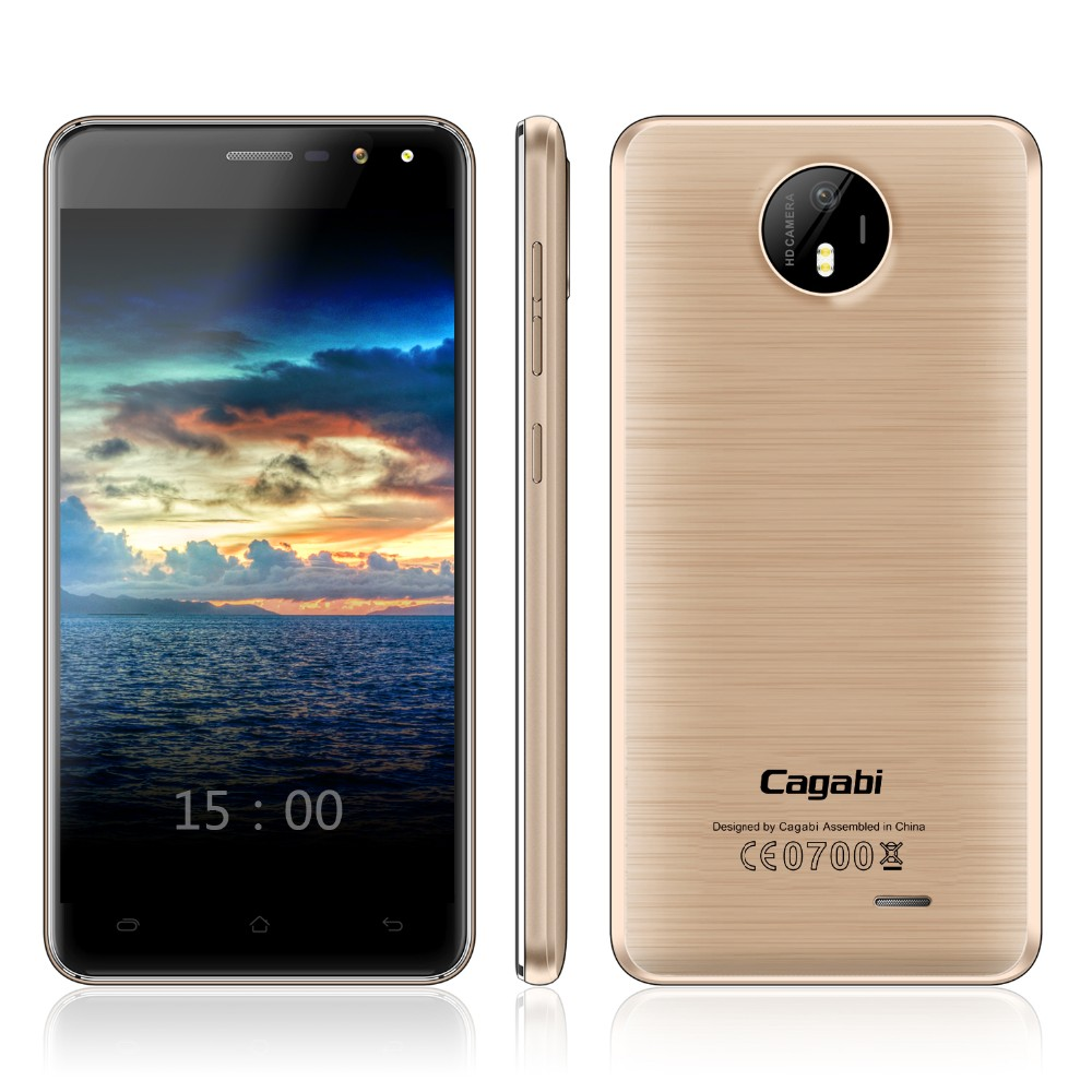 2017 Android 6.0 Smart Mobile Phone Cagabi One 5 inch 1G+8G 2200mAh Battery Best Quality Dual SIM Card 3G Mobile Phone