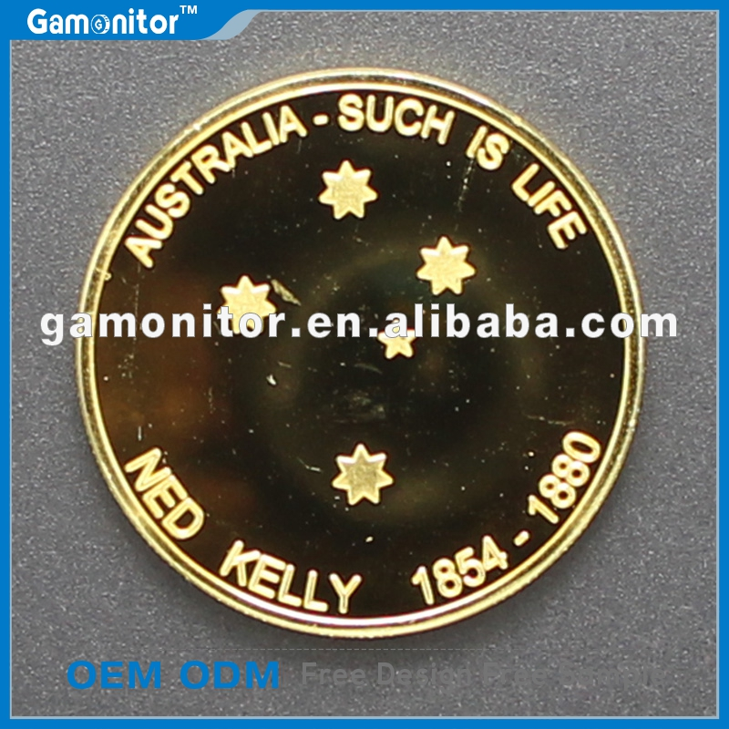 NED KELLY Coin Finished In .999 Gold 1oz Such Is Life Australia 1oz Collectable