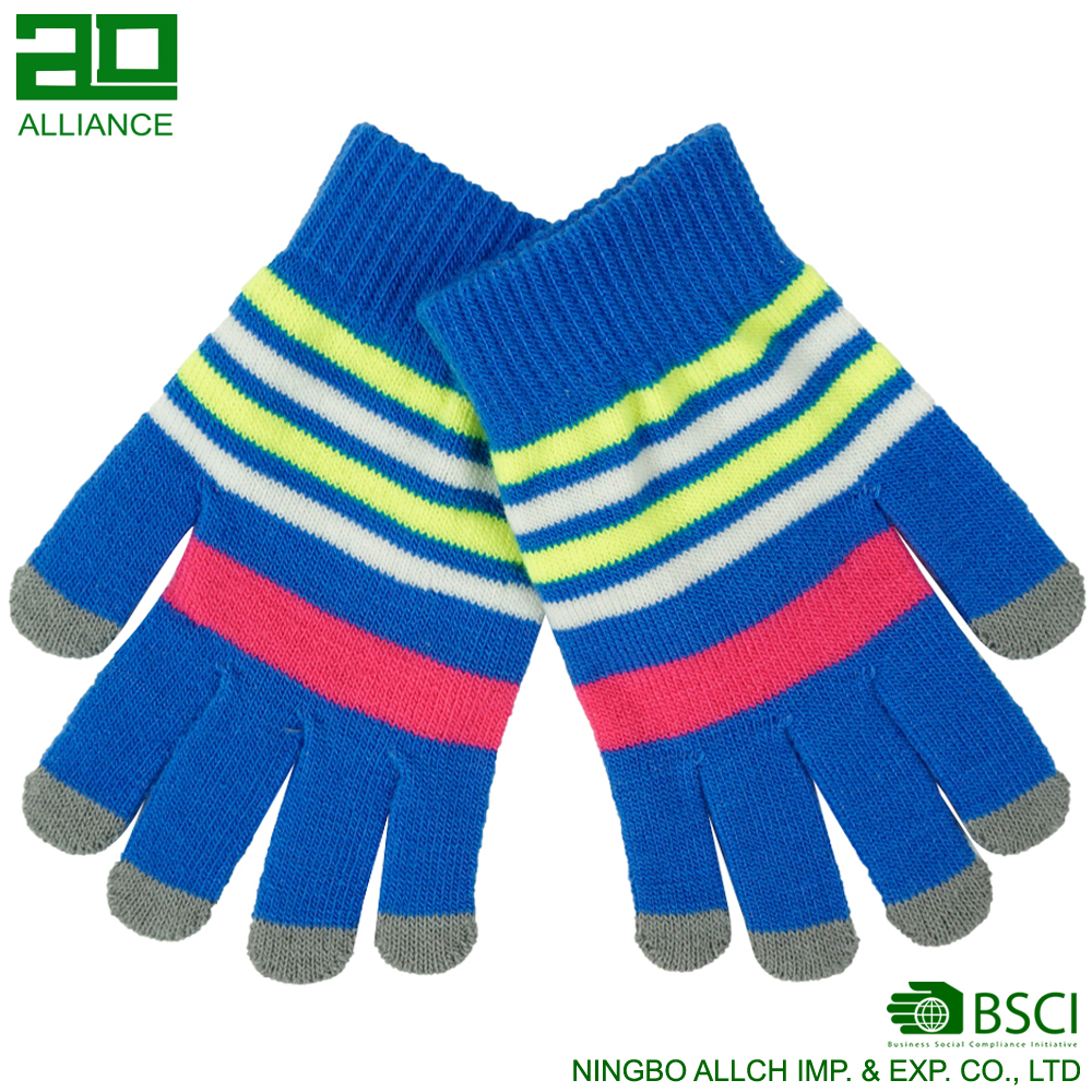 Wholesale Customize Knitted For Smart Phone Winter Softtextile Cotton Touch Screens Touch Gloves