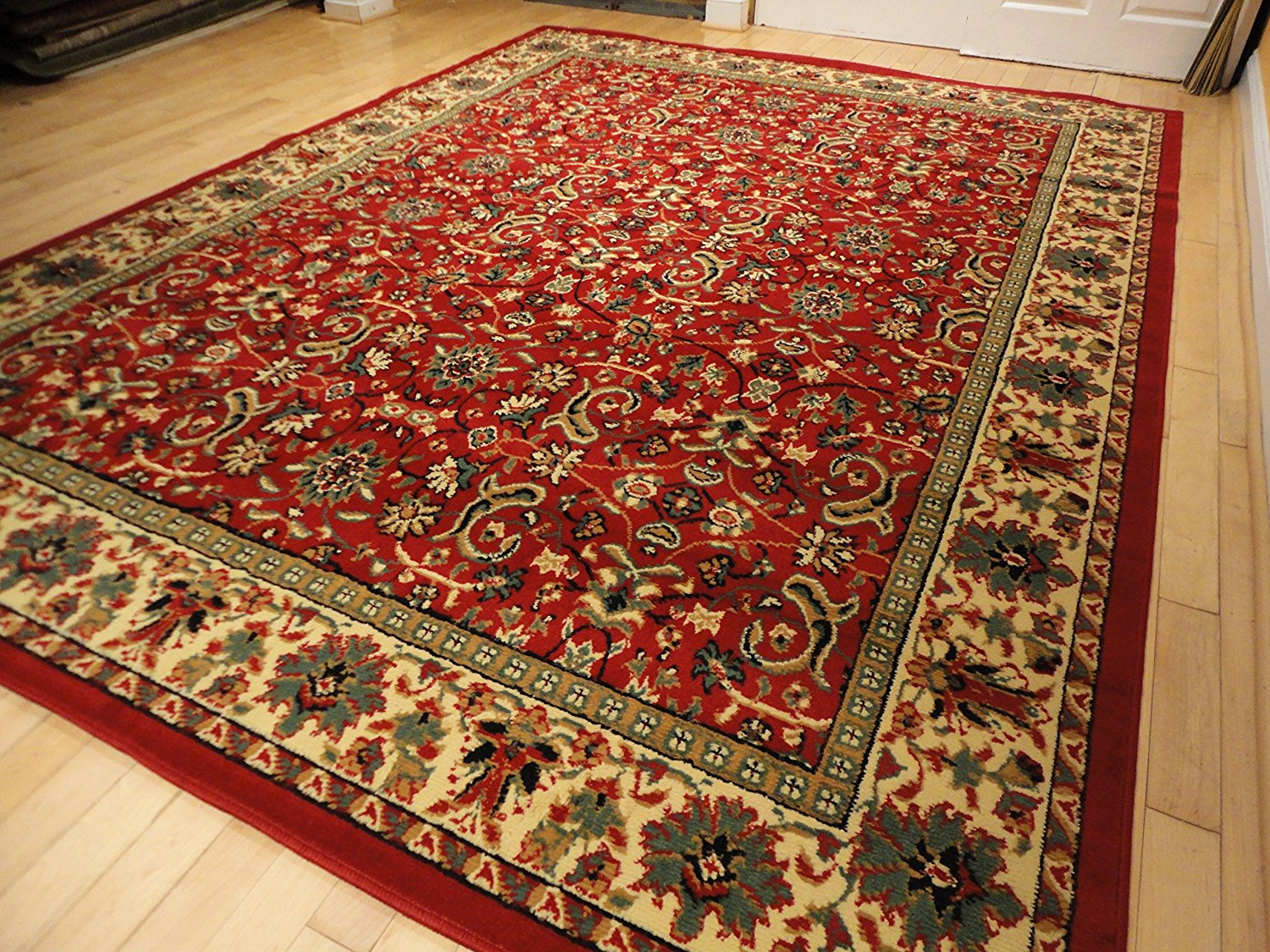 Buy Red Traditional Rug Large Red 8x11 Persian Rug Red