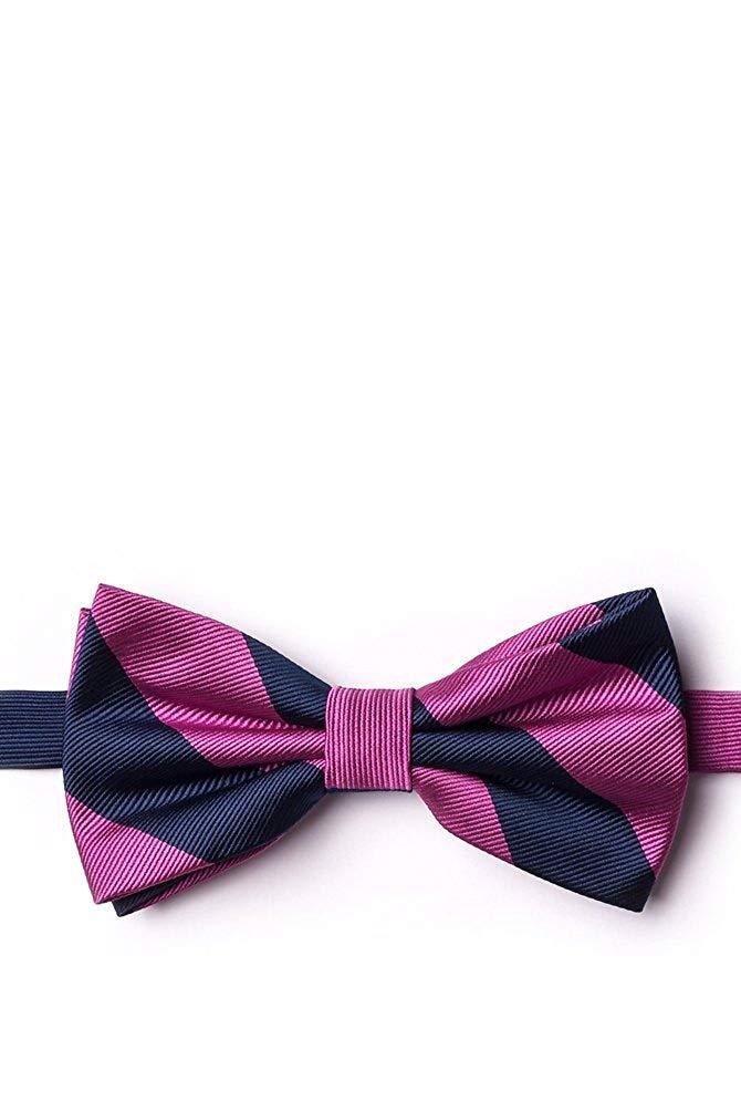 Enwis Tuxedo Mens Bowtie Adjustable Wedd ing Party Checked Pink Black