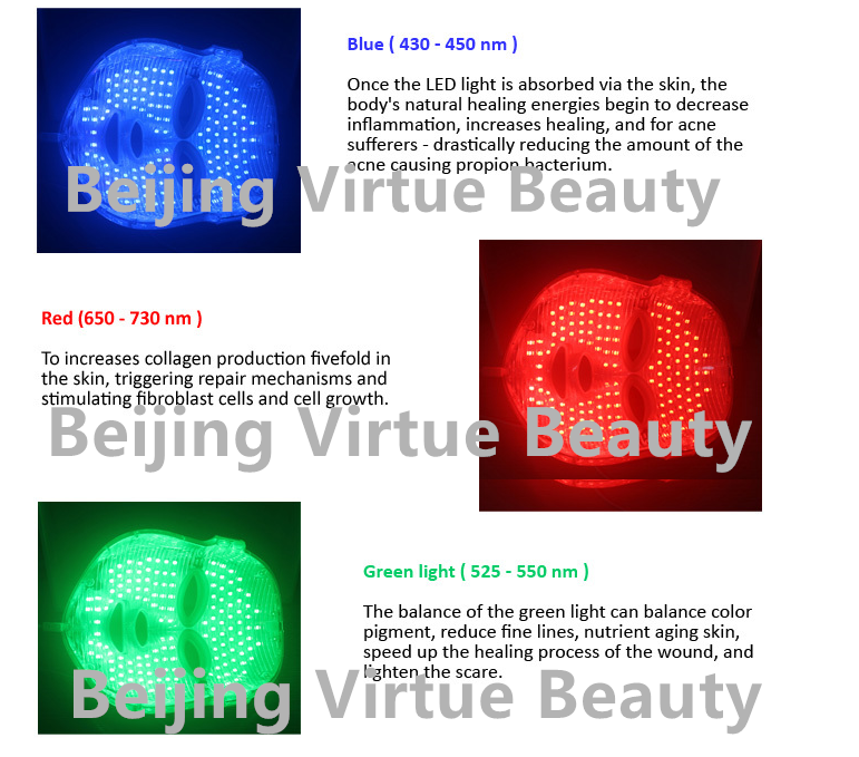 Hot Sale Led Light Therapy Acne Treatment Pdt Led Facial Mask ...