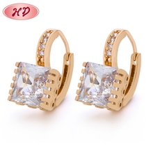 Hot Sale Wedding Women'S Jewelry Clip Rose Gold Bridal Earrings