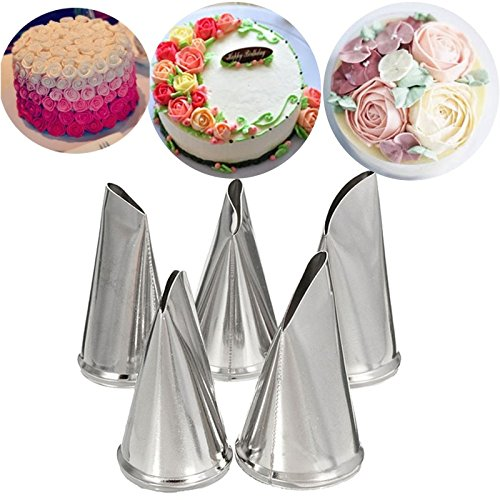 Katoot@ DIY Rose Petal Icing Piping Nozzles Set Stainless Steel Cake Cream Decorating Tips Baking Bakeware Cupcake Pastry Tools Kit