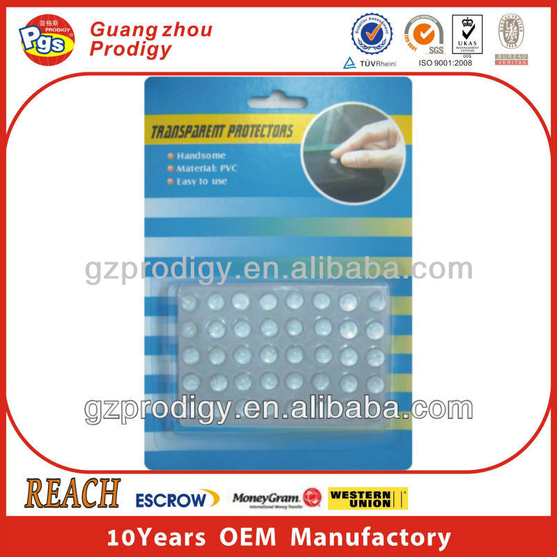 Self adhesive bumper protector glass cushion pads