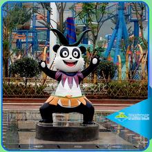 Life size large garden panda statues in movies for amusement park equipment