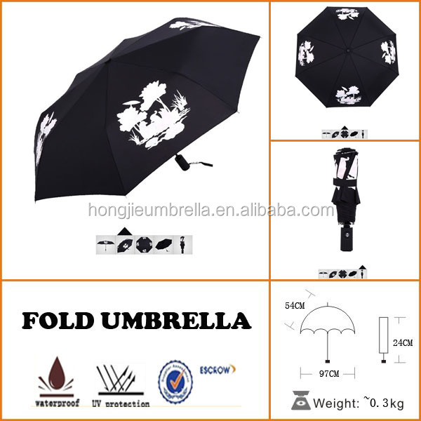 different kind of automatic open and close folding umbrella with tulip print
