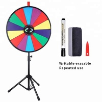 18'' Color Wheel of Fortune Spinning Prize Wheel with Folding Tripod Floor Stand