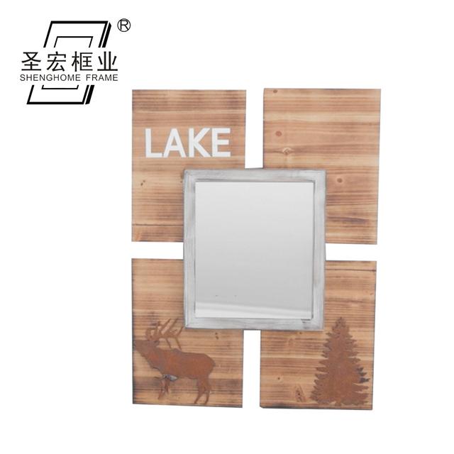 China Supplier Custom Furniture Wall Decor Wooden Mirror