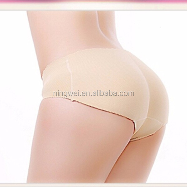 Sexy breathable push up seamless ladies disposable padded panties,Hip up seamless panty