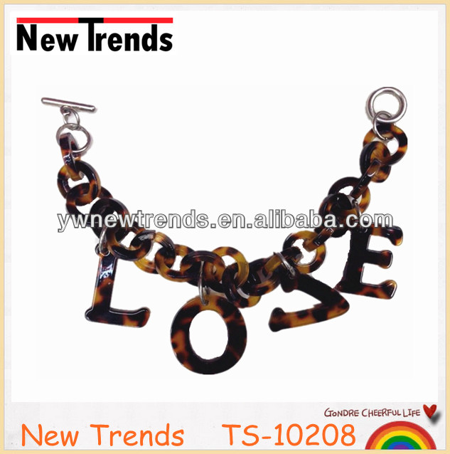 "Turtle chain bracelet with ""LOVE"" charm, Tortoise charm bracelet with ""LOVE"" letter pendant"