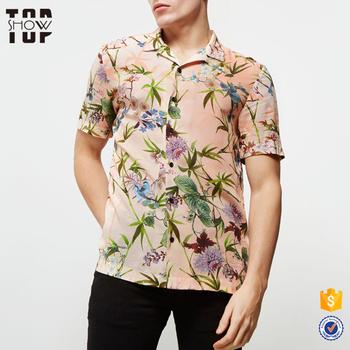 e3ad5cd97ab China shirt manufacturer men short sleeve custom printed hawaiian shirts  wholesale