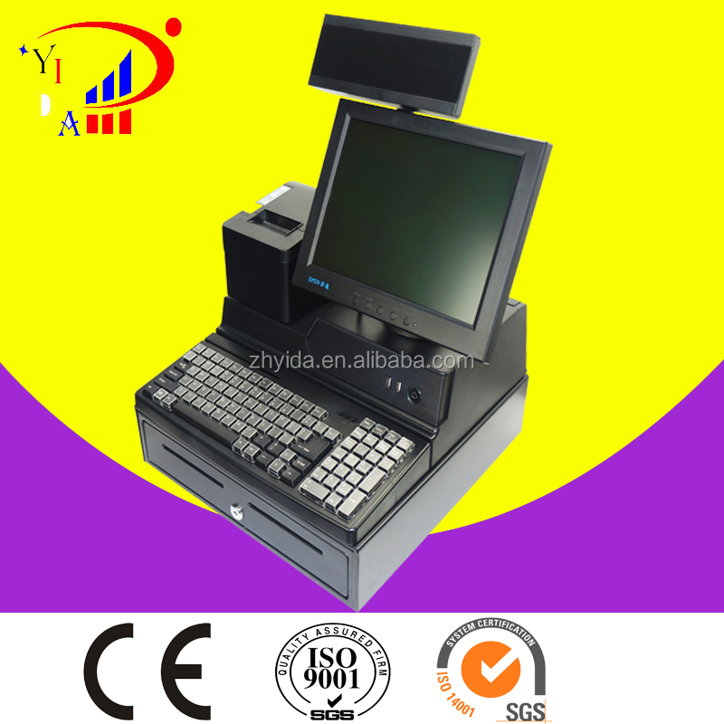 China factory Cheap pos hardware all in one Touch Screen restaurant ordering POS WLL-818D