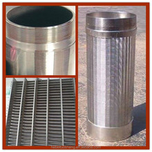 Wedge wire screen /johnson screen oil sieve tube / wire wrap screen