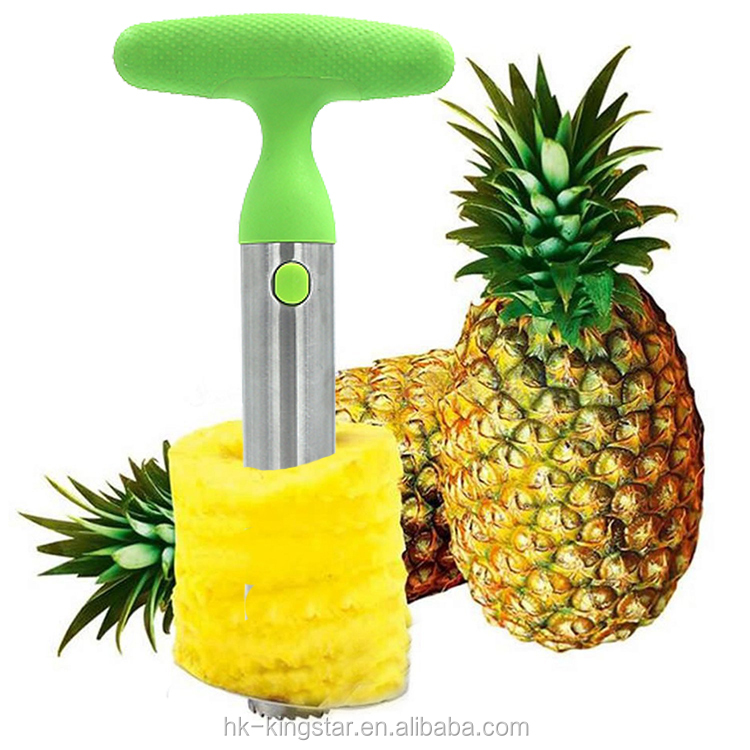 Pineapple peeling machine of Stainless Steel Pineapple Slicer and Corer Pineapple Knife Corer Slicer