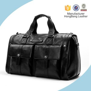 Fully Real Leather Duffel Holdall Bag Fully Real Leather Gym Hiking Camping Trendy Mens Travel Bag
