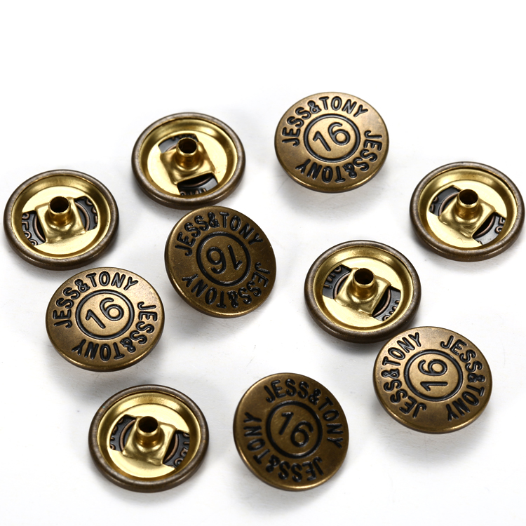 Custom ring press chaquetas snap on press button for clothing