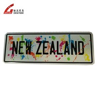custom embossed metal blank number plates