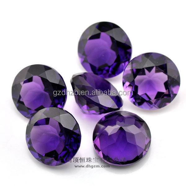 dark amethyst hydrothermal quartz stacked stone for fashion jewelry accessories