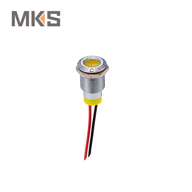 Illuminated Doorbell Switch 16mm Lighted Amber Door Bell Round Pushbutton