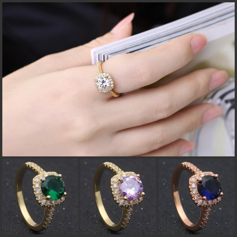 Hainon Wholesale Womens 1 Carat Red Diamond Price Rings Wedding ...