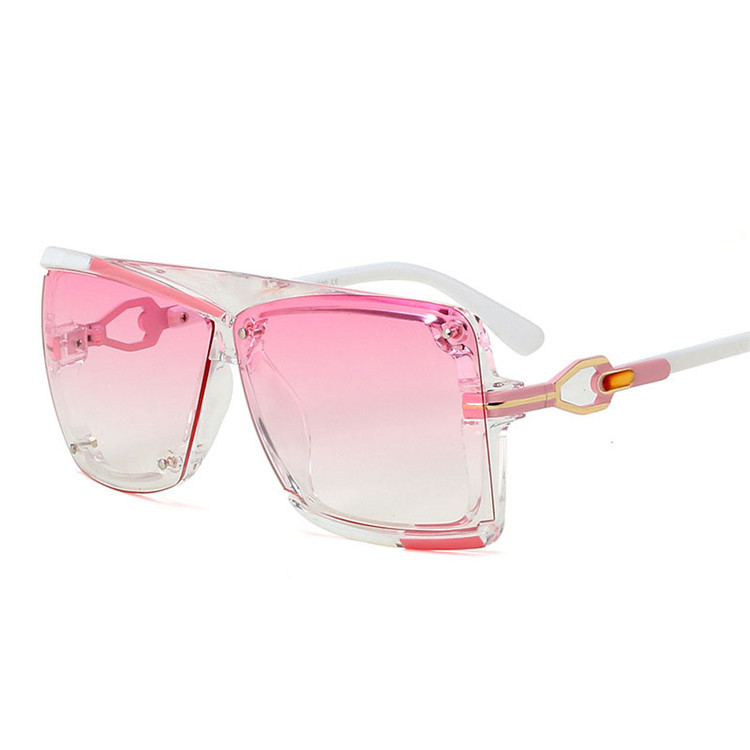 2019 Square Big Frame Hand Polished UV400 Unisex Fashionable Sunglasses, Mix color or custom colors