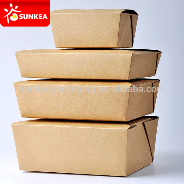 Kraft paper food container / take out box