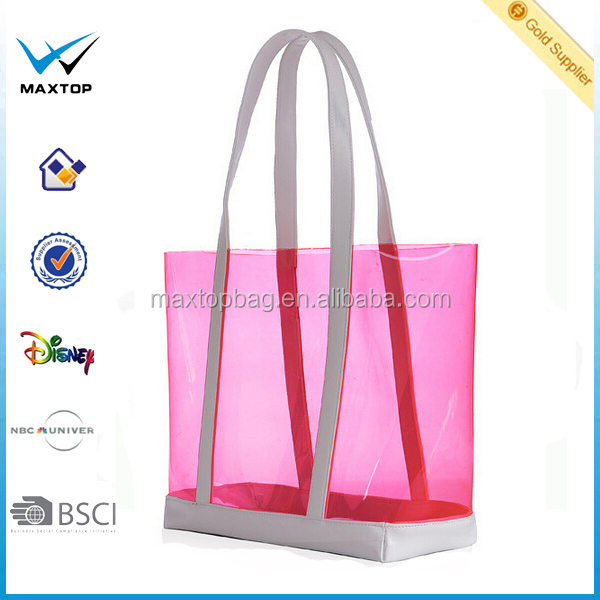 Wholesale PVC beach bag designer handbag