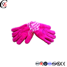 Chengxing top quality custom wholesale acrylic knitted crochet keep warm acrylic magic stretch cheap funny winter glove