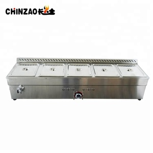 New 5 Pans Stainless Steel Commercial LPG Gas Bain Marie