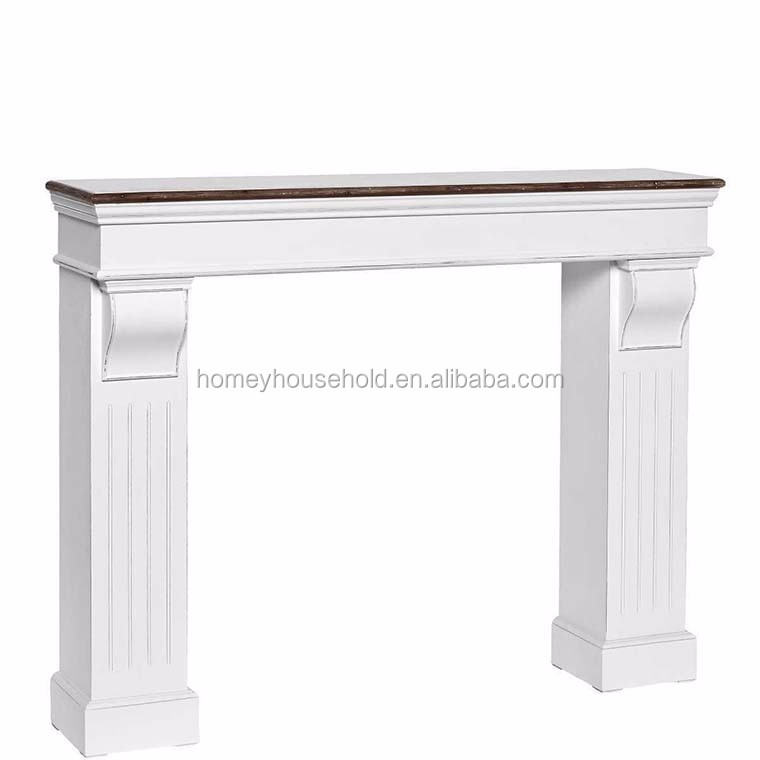 Hand carved high quality wooden fireplace mantel parts