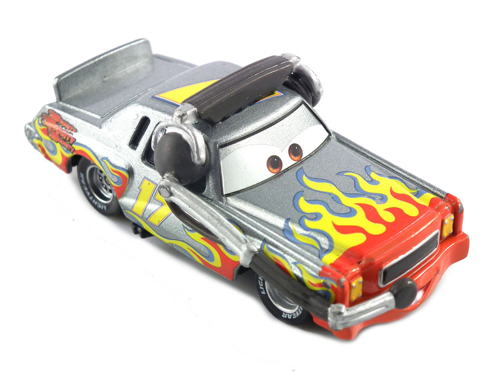 get quotations pixar cars 2 darrell cartrip with headset no 17 diecast metal classic toy cars for kids