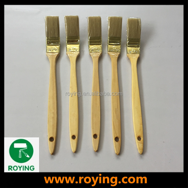 ROYING chalk paint brush set cheap flat paint brushes long wooden handle radiator brush