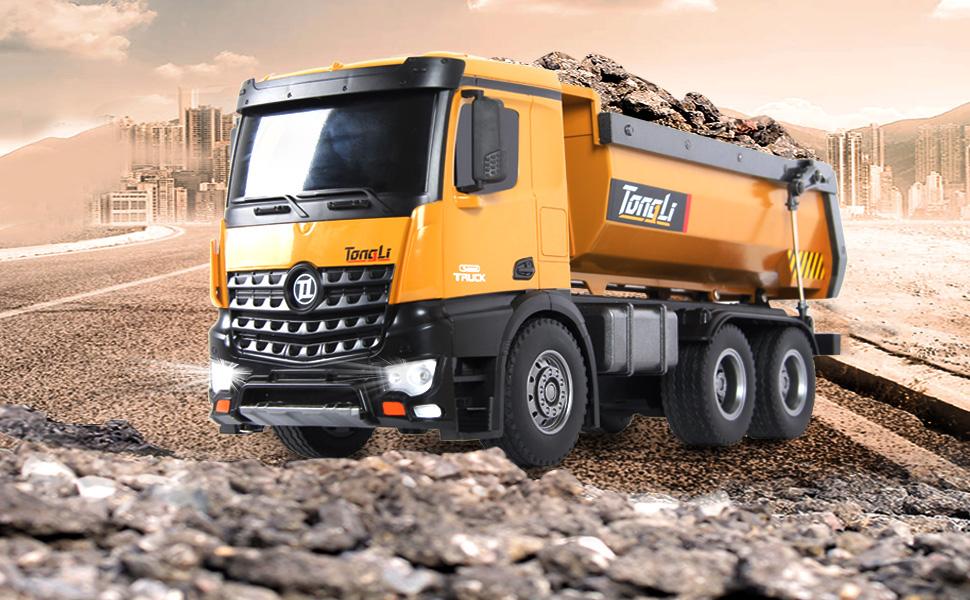 Tongli Mainan 573 Rc Dump Truck 1 14 10 Channel Remote Control Konstruksi Dump Truckrc Mobil Dengan Fungsional Mainan Luar Ruangan Buy Radio Kontrol Truk Huina 1573 Rc Dump Truck Product On Alibaba Com