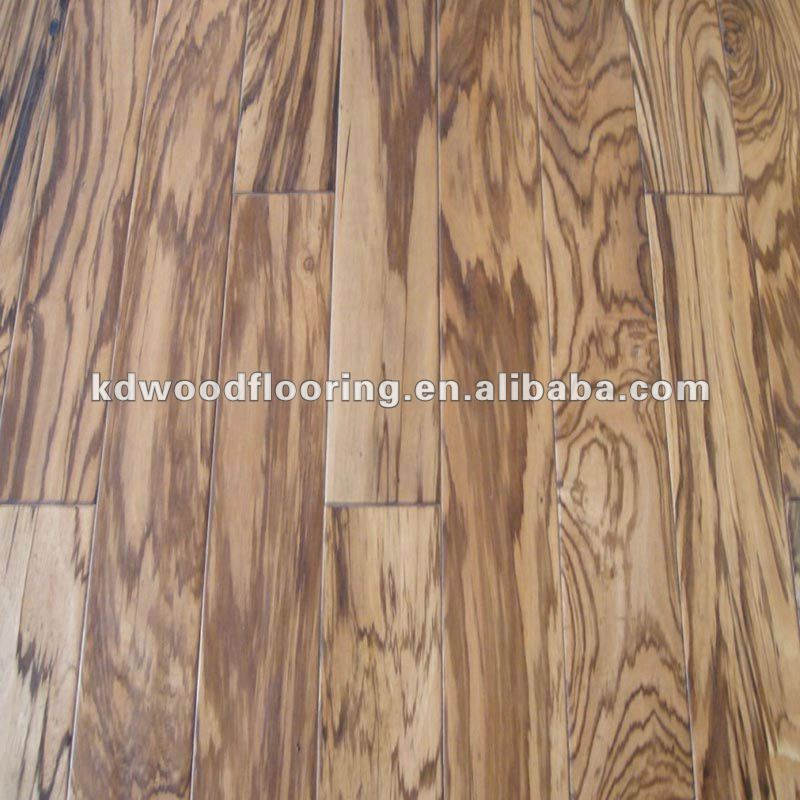 "1/2"" Natural Zebrano Multilayer Engineered Flooring"